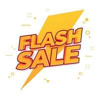conception de modèle de bannière de vente flash. vecteur