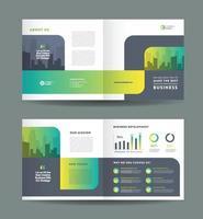 conception de brochures à deux volets et conception de prospectus de marketing d'entreprise vecteur