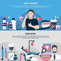 bannières d'hygiène bucco-dentaire et de dentisterie vecteur