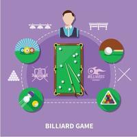 composition de jeu de billard vecteur