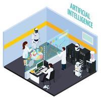 illustration vectorielle de concept d & # 39; intelligence artificielle vecteur