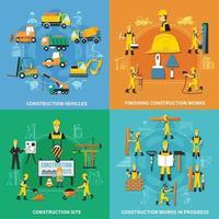 illustration vectorielle de construction travailleur concept vecteur