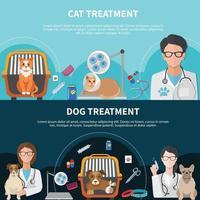 bannières de traitement vétérinaire vecteur
