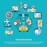 fond de système de navigation gps vecteur