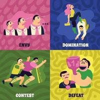 icônes de concept concurrentiel mis en illustration vectorielle vecteur