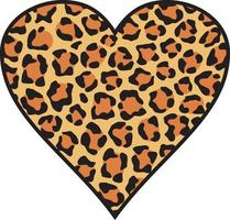 fond de peau de coeur léopard vecteur