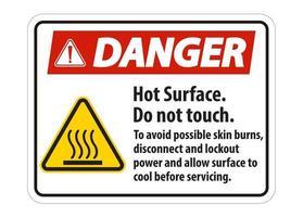 surface chaude ne pas toucher pour éviter d'éventuelles brûlures cutanées débrancher et verrouiller l'alimentation et laisser la surface refroidir avant l'entretien vecteur