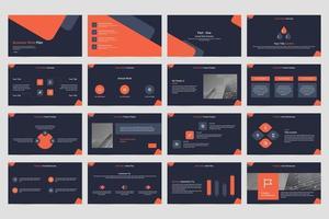 présentation de diapositives de vecteur minimaliste entreprise