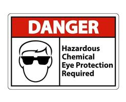 danger dangereux produit chimique protection des yeux requis symbole signe vecteur