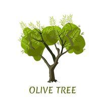 olivier de vecteur avec des feuilles et des olives