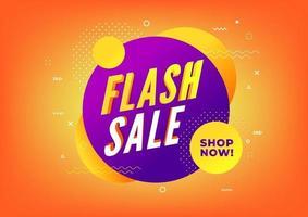 modèle de conception de bannière de vente flash. bannière offre spéciale. vecteur