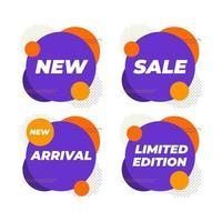 vente, nouvelle arrivée, édition limitée, modèle de conception de bannière de formes géométriques. vecteur