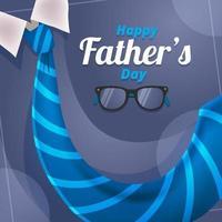 cravate bleue fluide pour la fête des pères vecteur
