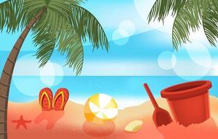 jouer au sable sur l & # 39; activité estivale de la plage vecteur