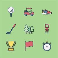 jouer au golf pour les vacances d'été vecteur