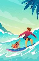 sport d'été à la plage vecteur