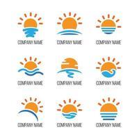 plusieurs itérations simples de soleils vecteur