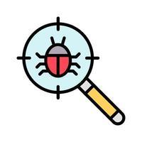 icône de bogue de recherche vecteur