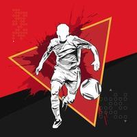 football soccer splash silhouette vecteur