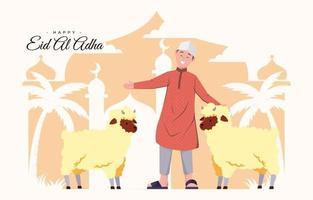 eid al adha mubarak vecteur