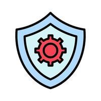 icône des paramètres de sécurité vecteur