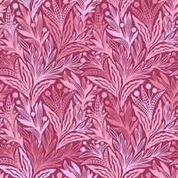 motif d & # 39; ornements de plantes florales framboises sans soudure vecteur