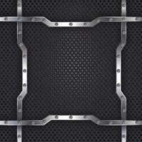 fond abstrait en métal noir vecteur