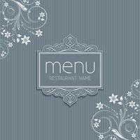 Design de menu élégant vecteur