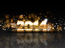 Fond étincelant de nouvel an vecteur