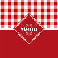 Modèle de menu vichy