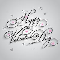 Joyeuse saint Valentin vecteur