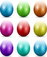 Oeufs de Pâques colorés vecteur