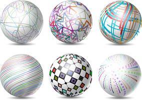 Sphères abstraites vecteur