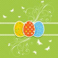 Fond floral d'oeufs de Pâques vecteur