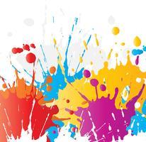 Éclaboussures de peinture grunge vecteur