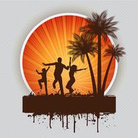 Fond de fête d'été