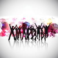 Fond abstrait gens de fête