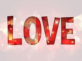 Fond d'amour vecteur