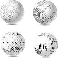 Sphères tech abstraites vecteur