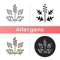 icône de pollen d'ambroisie vecteur