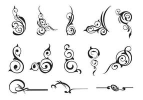 13 scroll swirly vectors