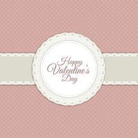 Fond rétro Saint Valentin vecteur
