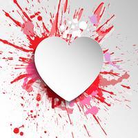 Fond coeur grunge vecteur