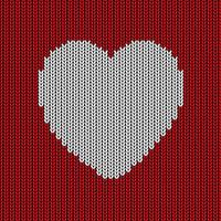 Fond coeur tricoté