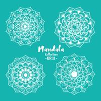 Ensemble de motifs décoratifs et ornementaux mandala vecteur