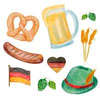 Collection d'éléments Oktoberfest mignon vecteur