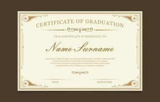 certificat de conception de modèle de graduation vecteur