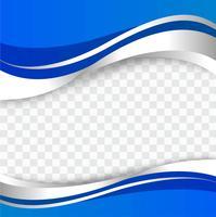 Vecteur de fond abstrait élégant vague bleue élégante