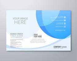 Modèle de brochure abstraite affaires ondulées vecteur