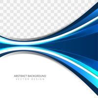 Fond de vague bleu créatif coloré moderne vecteur